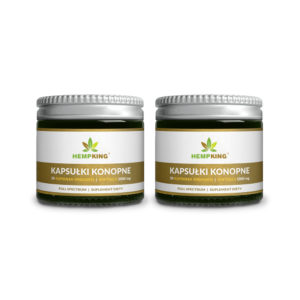 Set: 2x CBD Capsules (1000mg) - 50pcs