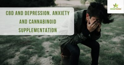 CBD and depression. Anxiety and cannabinoid supplementation
