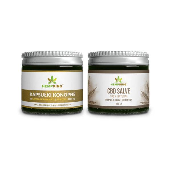 cbd capsules + cbd salve