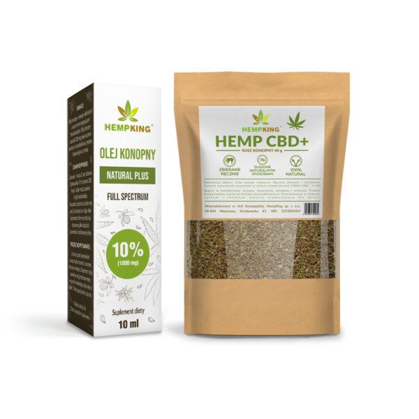 cbd oil 10% + dried hemp