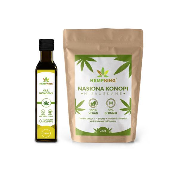 hemp oil + hemp seeds