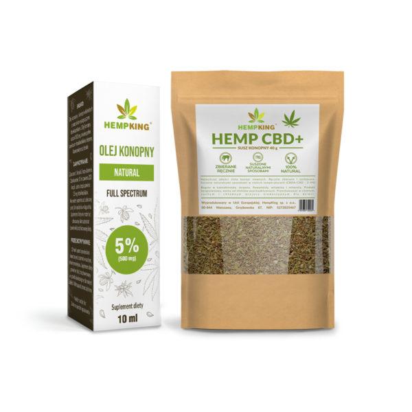 cbd oil 5% + Dried hemp CBD