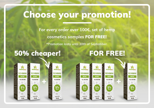 Free CBD oil 5% for your order!