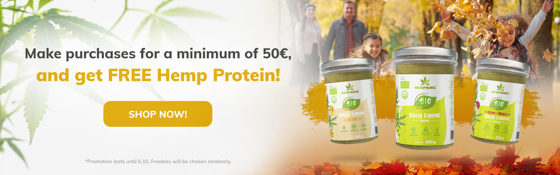Hemp protein for free