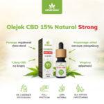 olejek konopny 15% natural strong właściwości