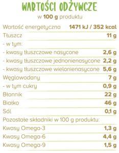 białko kakao tabelka