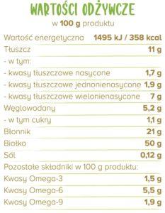 białko tabelka