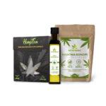 olej konopny + nasiona + herbata