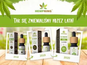 zmiana wyglądu olejków Hempking