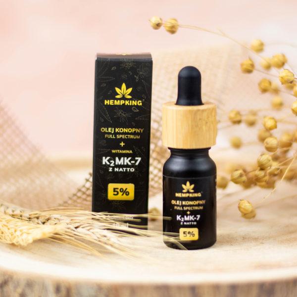 olej z konopi z K2Mk-7 z Natto