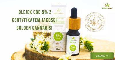 certyfikat jakości golden cannabis dla olejku cbd 5%